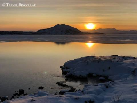 The National Park of Thingvellir- Sunset